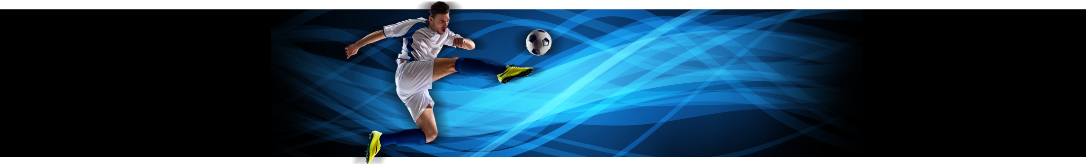 Booking Online page graphic showing a man kicking a football for Anderson Peak Performance, New York based chiropractic clinic