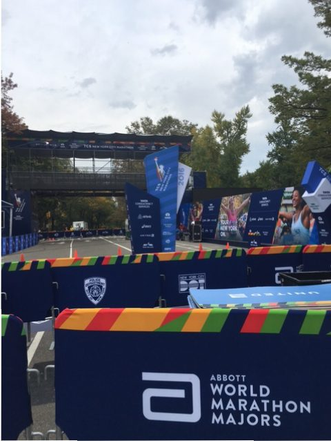 The finish line at the New York City Marathon | Anderson Peak Performance